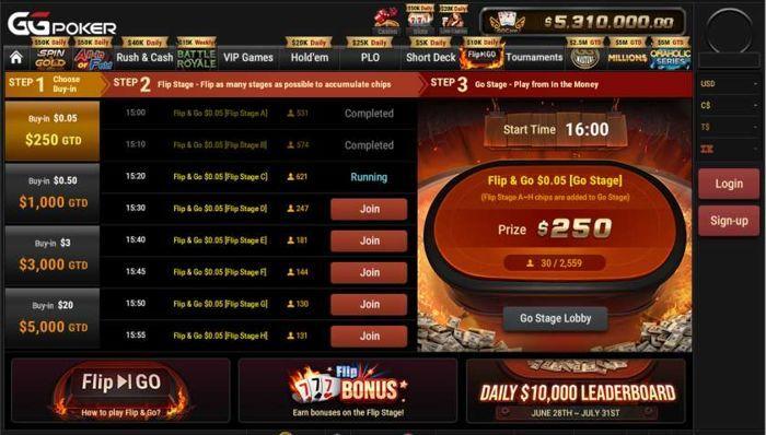 Lobi poker GGPoker Flip & Go Pembaruan