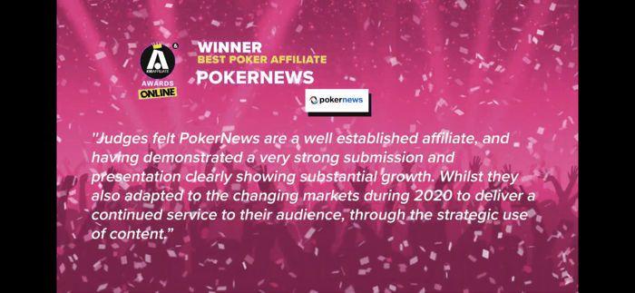 PokerNews Menang