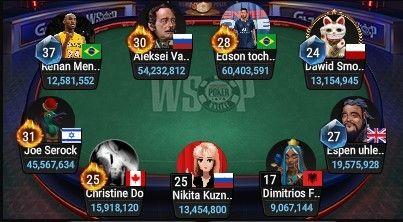 Tabel Final Acara Utama GGPoker WSOP Online