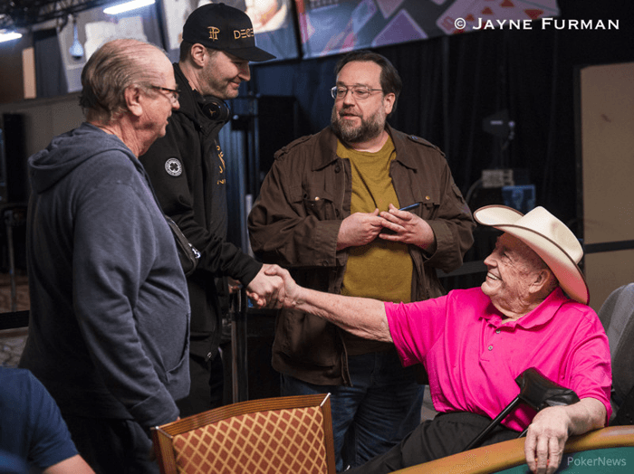 Phil Hellmuth and Doyle Brunson
