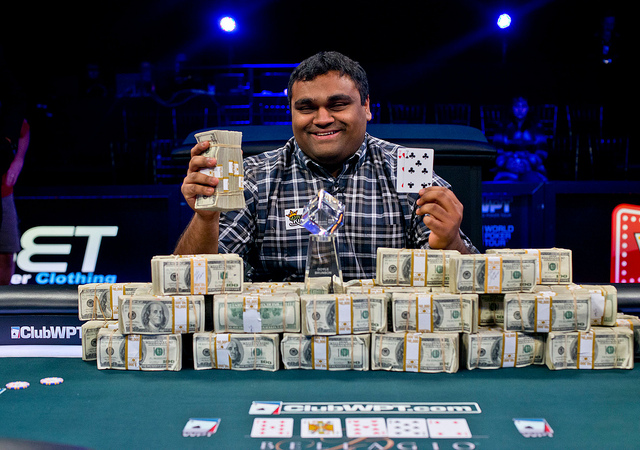 Five Star App >> Ravi Raghavan Wins WPT Five Diamond World Poker Classic ...