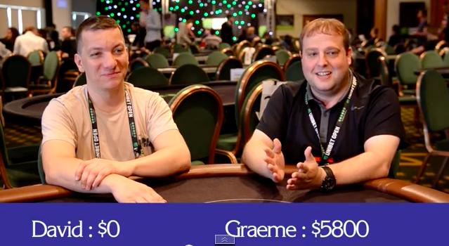 Unibet Open Glasgow Journaal: Poker-quiz tussen twee rivalen