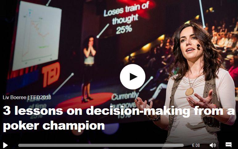 [VIDEO] TED Talk : 3 Tips de Liv Boeree pour prendre de meilleures décisions 0001