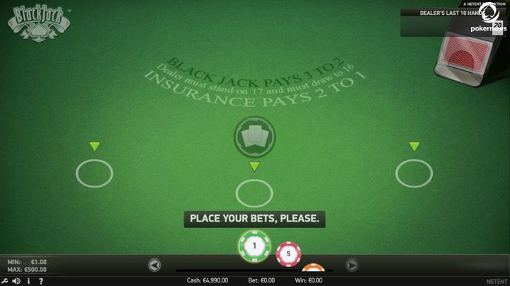 How much to bet on single blackjack hand result set options binary