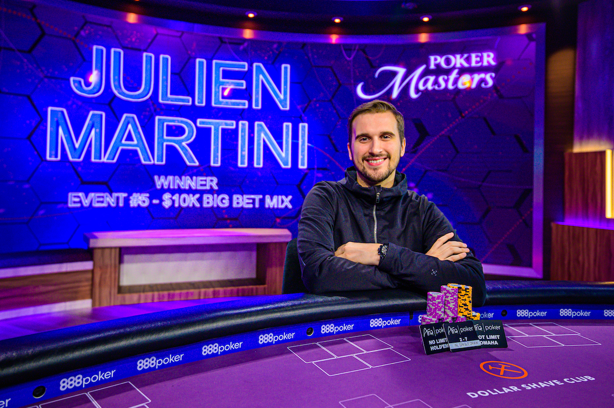 "Julien Martini Secures ""019 Poker Masters $10,000 Big Bet Mix Title"