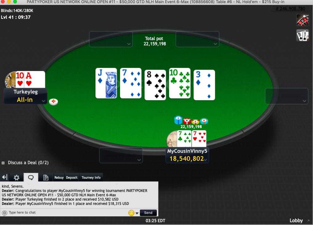 Party poker bonus code first deposition