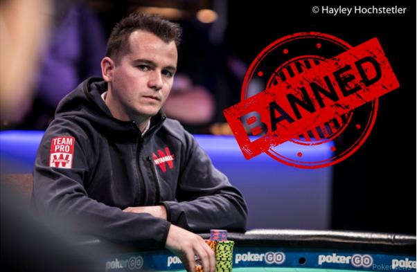 Fransman Ivan Deyra speelt vals met poker