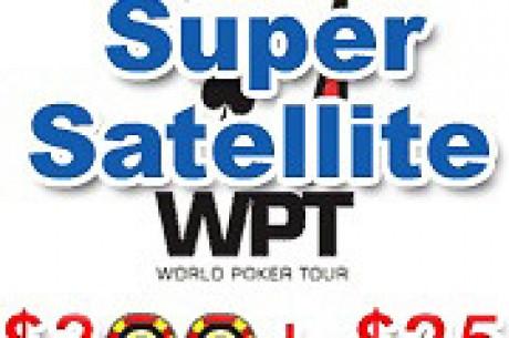 PartyPoker presents WPT Super Satellite - $300+$25!