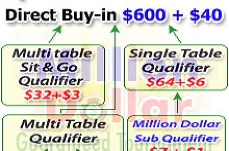 Million Dollar Guaranteed $600 + $40 PokerTurnier