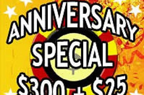 PartyPoker.com Anniversary Special $300 + $25
