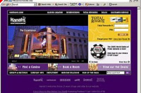Harrah's Launches Re-designed Web Site