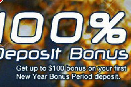 Pokerchamps gives New Years Deposit Bonus!