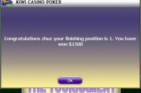 祝贺站长在kiwi poker的3000$锦标赛中勇夺第一
