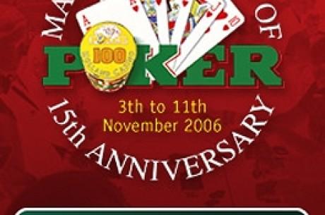 Master Classics of Poker Verslag van Maandag