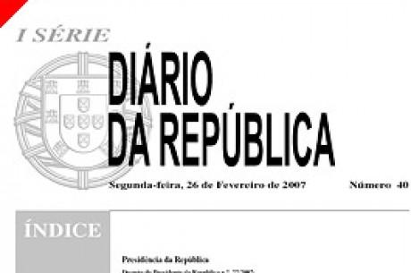 26 Fevereiro dia Histórico para o Poker em Portugal – Legislação de Poker Aprovada