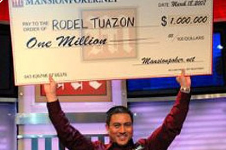 Rodel Tuazon Ganha a Grande Final do $1 Million Mansion Poker Dome na Véspera do Seu Casamento