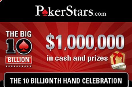Poker Stars Aproxima-se da Mão Dez Mil Milhões