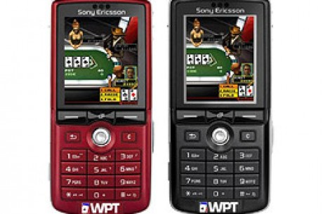 "Un téléphone mobile ""World poker tour"" Sony Ericsson"