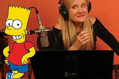 Nancy Cartwright, Bart Simpsonin ääni, emännöi Monte Carlo Night  -tapahtumaa ja...