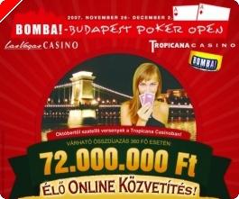 Exkluzív Élő Online Közvetítés a Budapest Poker Open 2007 versenyről!!!