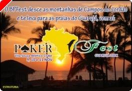 Brasil Poker Fest no Guarujá – 9 a 11 Novembro - Brasil