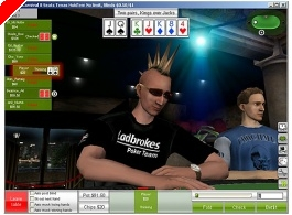 Ladbrokes Poker Launch 3D Poker Software
