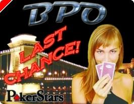 Közkívánatra!  BPO Last Chance verseny a PokerStars termében!