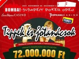 Tippek és jótanácsok a Budapest Poker Open résztvevői számára