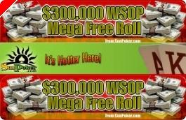 $300,000 WSOP Mega Freeroll – 25 Lugares à Espera