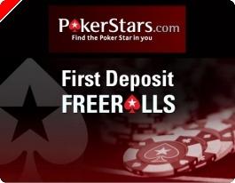 Freeroll na Poker Stars para Jogadores que Façam o 1 Depósito - $30,000.00 Total