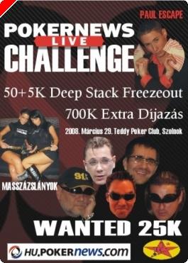 PokerNews Live Challenge - ÉLŐ SZATELLITEK
