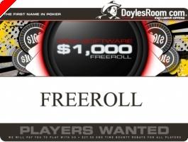 Freeroll $1,000 na Doyle Brunson Sábado 12 Abril
