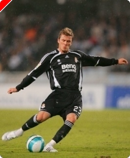 David Beckham이 WSOPE의 시트를 주어졌다!?
