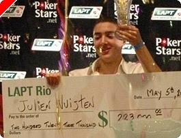 Julien Nuijten vence en el primer evento del LAPT de Rio de Janeiro.