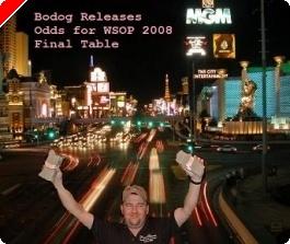 Odds para Mesa Final das WSOP – Cortesia Bodog