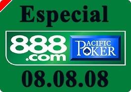 Pacific Poker 888 Festeja o Dia 08/08/08