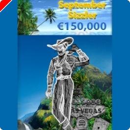 Rake Race em Setembro na Paradise Poker - €150,000 em Disputa!