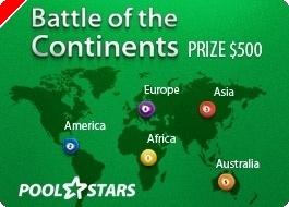 PoolStars Battle of the Continents alkaa