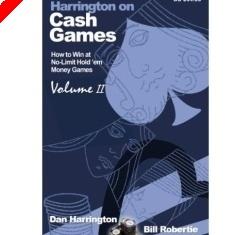 """Livre Poker - """"Harrington on Cash Games, Volume II"""" de Dan Harrington et Bill Robertie"""