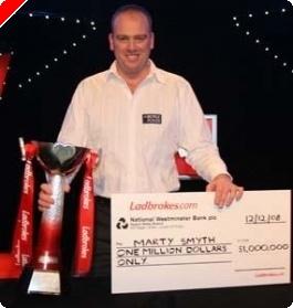 Marty Smyth vítězí na Poker Million, PokerStars pořádá rekordní turnaj a další novinky