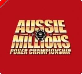Brett Daphne chipleader dag 1B - Aussie Millions Report
