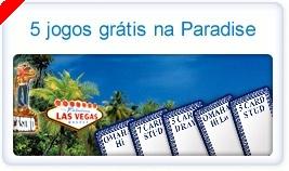Jogue 5 Variantes de Poker Gratuitamente na Paradise Poker!