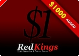 Zahrajte si PokerNews Weekly Tournament u RedKings Poker - $1 Buy-in s přidanými 1000 dolary