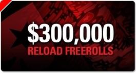 PokerStars reload kampaania: $300.000 väärtuses freerolle juunis!