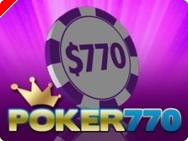 Hoje às 17:05 Torneio Semanal $770 Cash Freeroll na Poker770