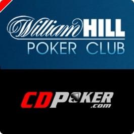 Hoje às 19:45 $2,000 em Dinheiro e Tickets $100K GTD em Jogo na William Hill e CD Poker