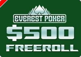 Hoje às 17:35 $500 PokerNews Cash Freerolls na Everest Poker