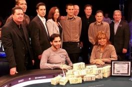 Оливър Бискет завоюва титлата в WPT Borgata Poker Open...
