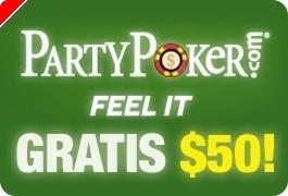 $50 GRÁTIS na PartyPoker - Não Precisa Depositar!
