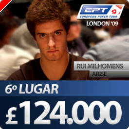 "Rui ""Arise"" Milhomens 6º Classificado no EPT de Londres"
